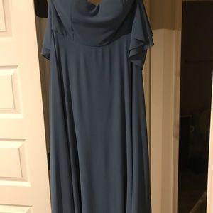 Long off the shoulder formal dress